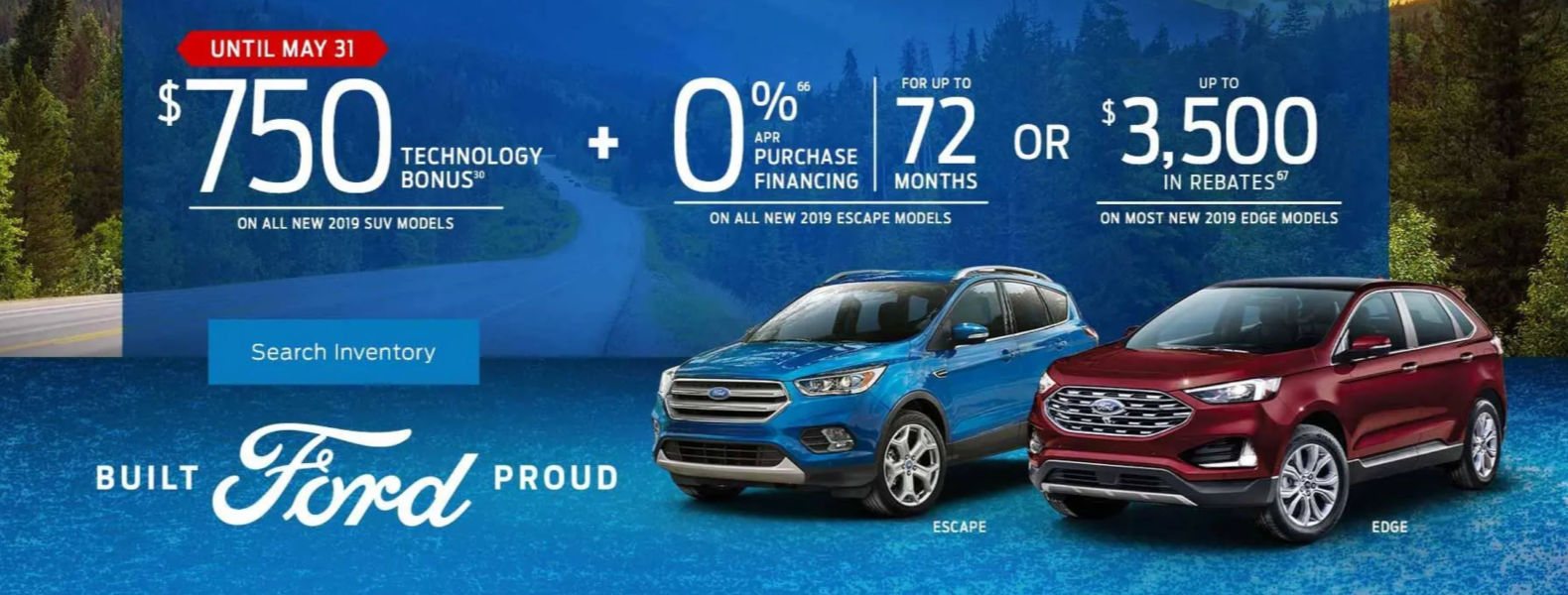 Ford espape edge 2019 Perth ON