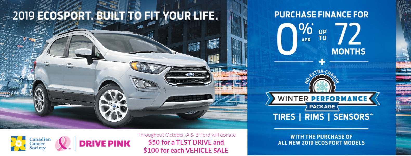 Ford Ecosport 2019 Drive Pink