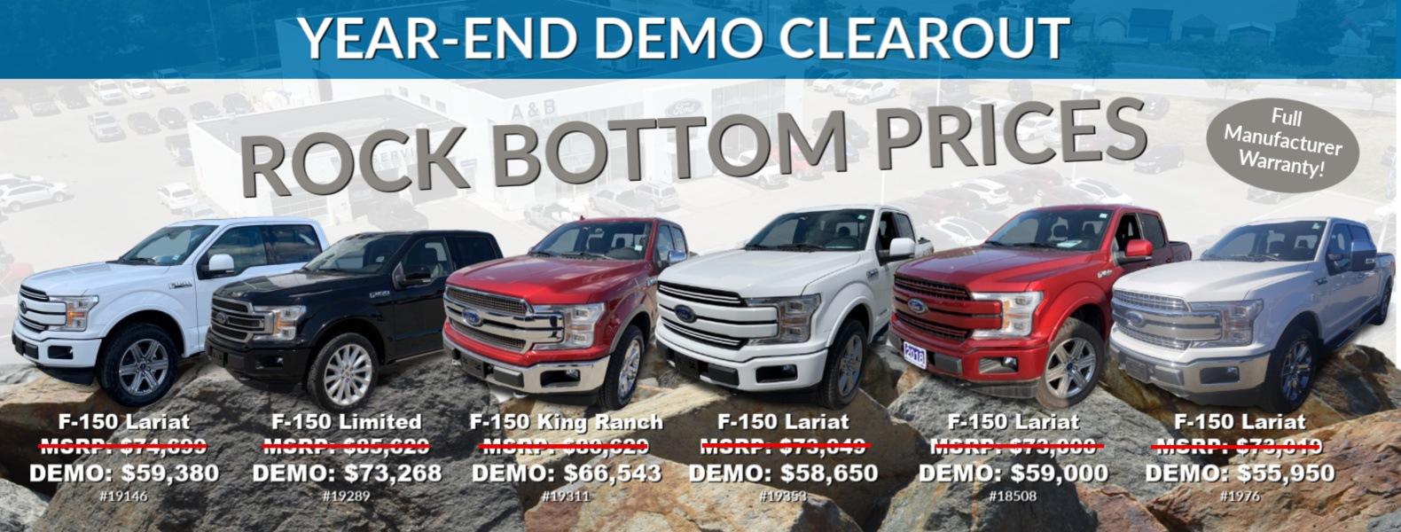 Ford Demonstrator DEMO Vehicles