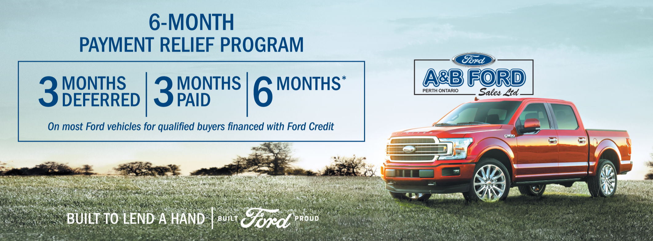 Ford 6 months no payments COVID-19
